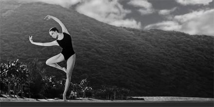Балерина и горы